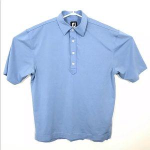 FootJoy Men Blue Short Sleeve Polo Shirt